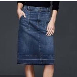 Gap Raw Hem Skirt